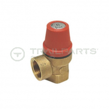 Pressure release valve brass adjustable 1 to 6 bar F/F 1/2inch