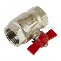 Ball valve female/female 1inch BSP c/w butterfly handle