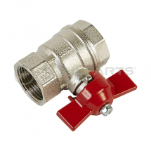 Ball valve female/female 3/4inch BSP c/w butterfly handle