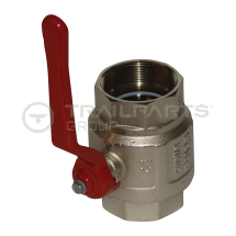 Ball valve female/female 1/2inch c/w lever handle