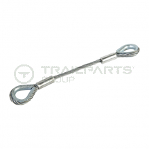 Cable drum trailer axle arm yolk wire